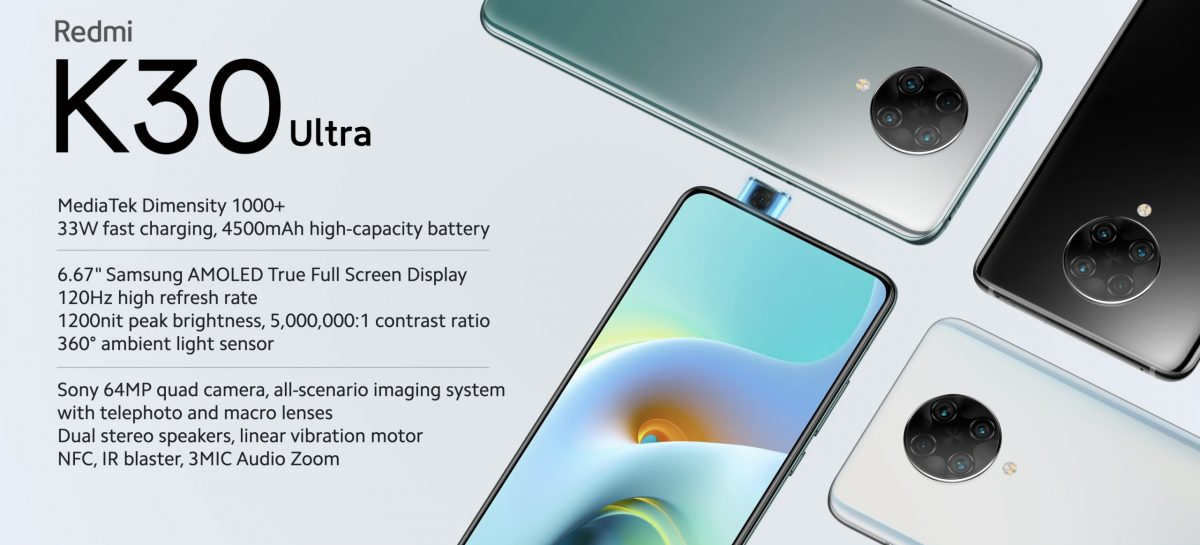 Redmi K30 Ultra Launches With Dimensity 1000+ And 120Hz AMOLED display