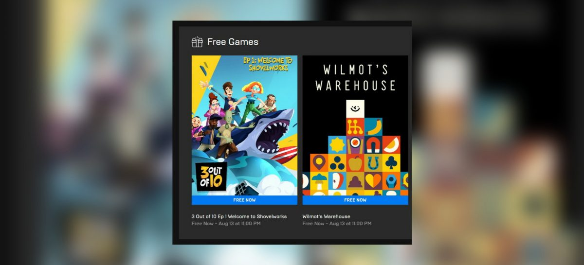 "Epic Free Games This Week: ""3 Out Of 10"" & ""Wilmot's Warehouse"""