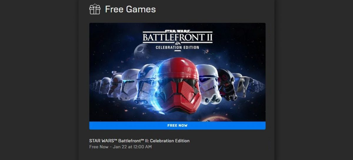 Star Wars Battlefront 2 Is FREE On Epic Store!