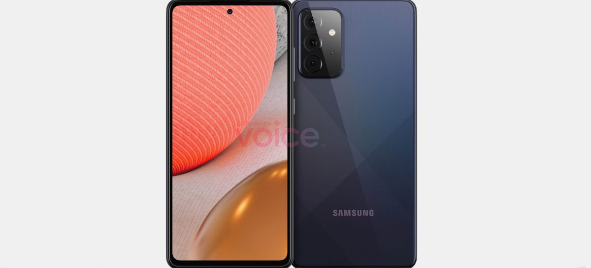 Samsung Galaxy A72 5G Renders Surface, Quad Cameras And Top Center Punchhole Cutout